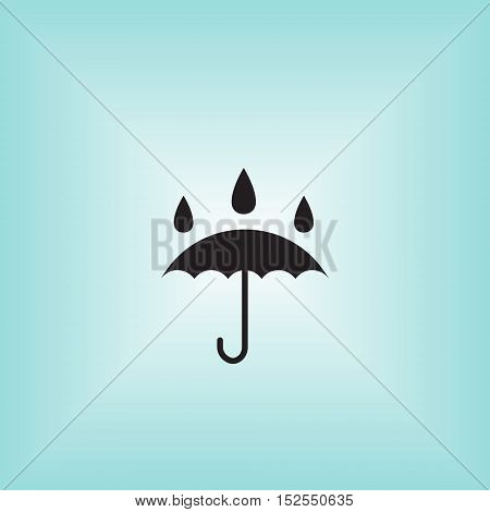 Umbrella vector icon. Isolated waterproof vector sign. Umbrella vector illustration logo. Water proof vector sign.