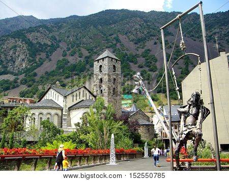 Parish tower of Andorra la Vella city centre
