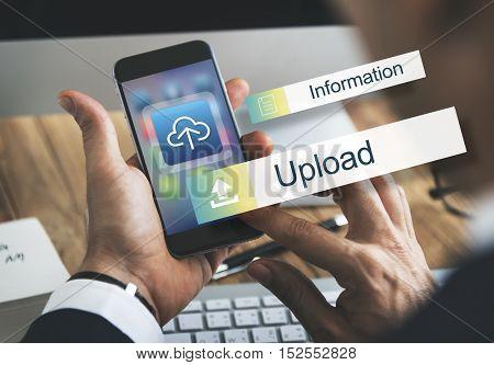 Upload Data Backup Storage Transfer Concept