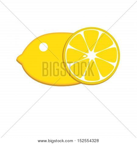 nice juicy fresh Lemon yellow on a white background