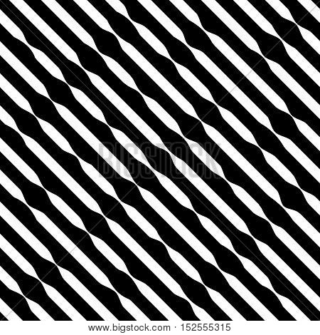 Striped seamless pattern. Fashion graphic background design. Modern stylish abstract texture. Monochrome template for prints textiles wrapping wallpaper website. VECTOR illustration