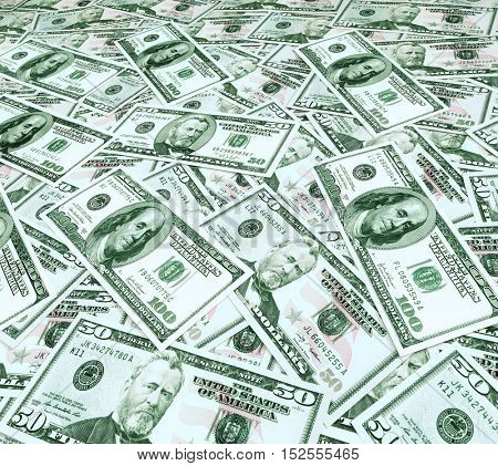 Background with money american hundred dollar bill