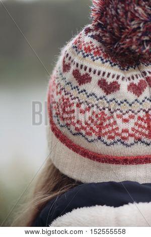 Close up woolen hat