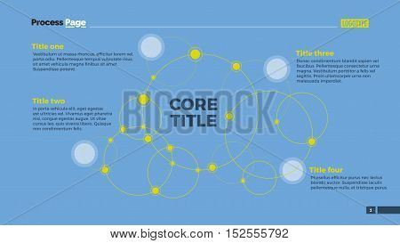 Social network diagram with line circles connected with dots. Presentation, diagram, chart. Concept for infographic templates, reports. Can be used for topics like technology, social media, network