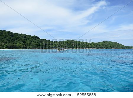 Beautiful tropical sea view in Andaman ocean ThailandKoh Tachai island