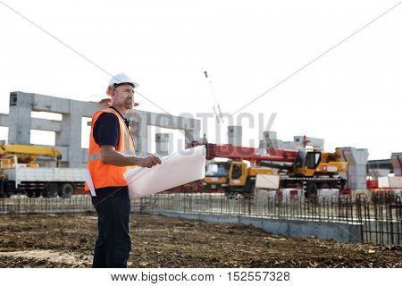 Blueprint Architect Career Structure Construction Concept