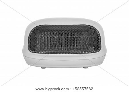New electric heater on a white background