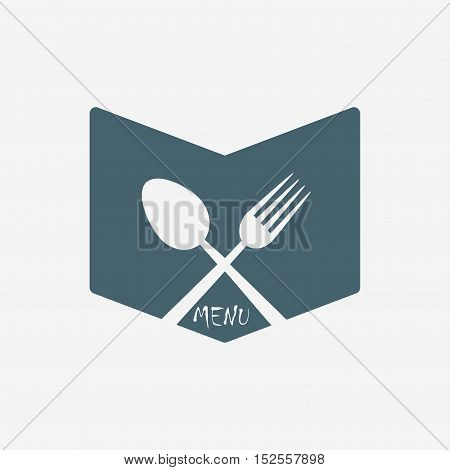 restaurant menu vector icon isolated on white background