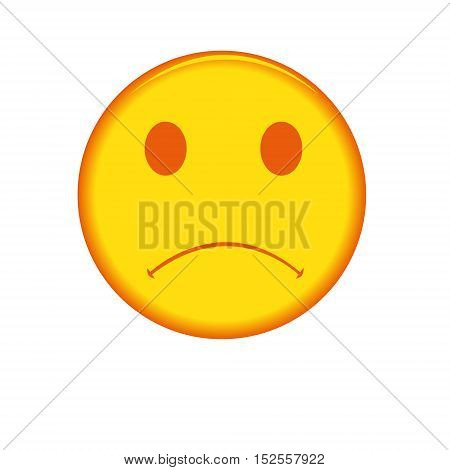 Vector sad face isolated on a white background