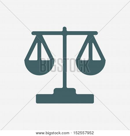 scales vector icon isolated on white background