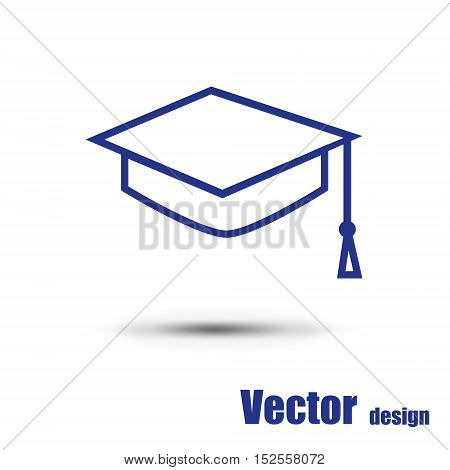 Student icon isolated on a white background
