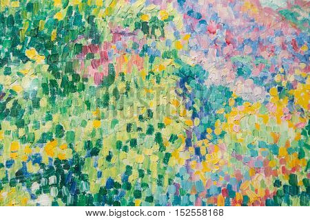 Background image of bright oil-paint palette