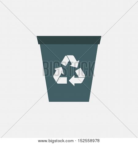 recycle bin vector icon isolated on white background
