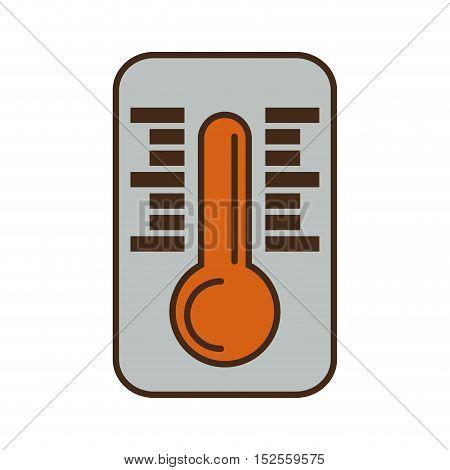 thermometer temperature measure icon vector illustration design