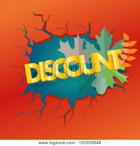 Shopping special offer template. Fall discount