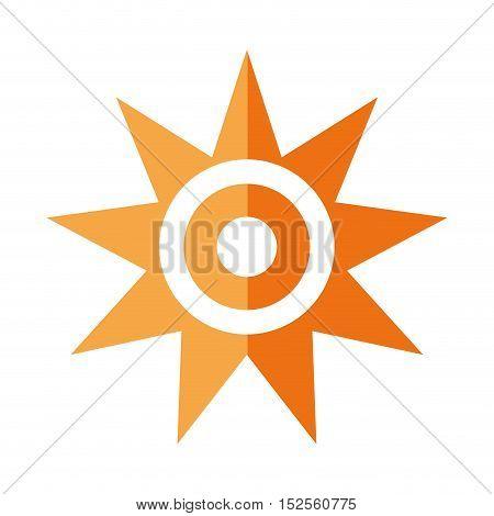 sun star climate isolated icon vector illustration design