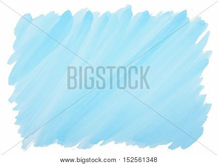 blue watercolor background with visible brushstrokes and frayed edges