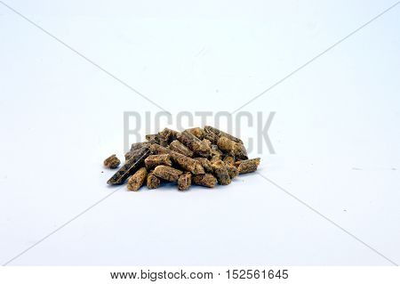 Small heap of pellets for stove of heating.