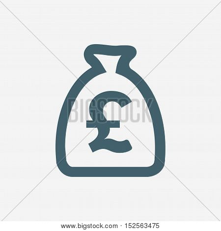 money bag vector icon isolated on white background