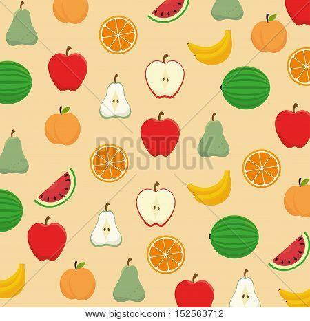 nutrition healthy food pattern vector illustration design