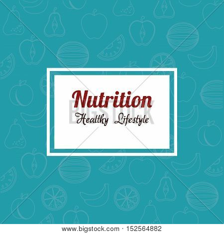 nutrition healthy lifestyle sign vector illustration design
