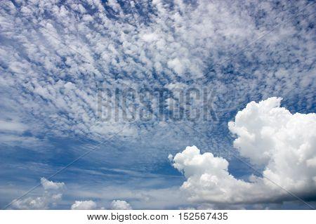 Blue Sky With Clouds, Vintage Concept,soft Focus