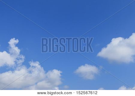 blue sky and white clouds background, beautiful background