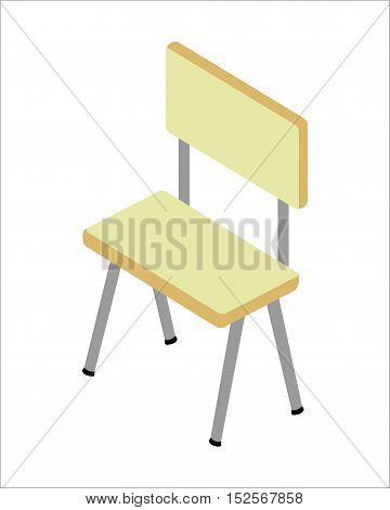 Chair vector illustration. Isolated on white background.