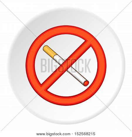 No smoking icon. Flat illustration of no smoking vector icon for web