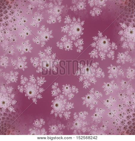 Purple pink and white floral design squared background
