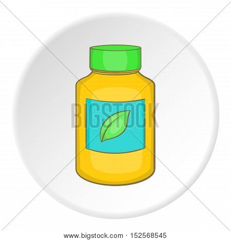Vitamine bottle icon. Flat illustration of vitamine bottle vector icon for web