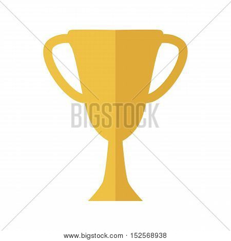 Cup vector illustration in flat style. Goblet picture for success, victory, reward Isolated on white background.