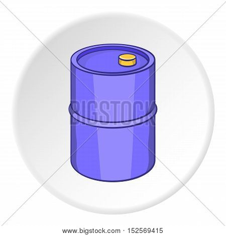 Oil barrel icon. Cartoon illustration of oil barrel vector icon for web