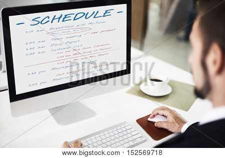 Schedule Planning Time Activity Concept