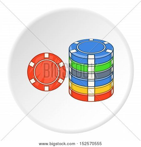 Gambling chips icon. Flat illustration of gambling chips vector icon for web