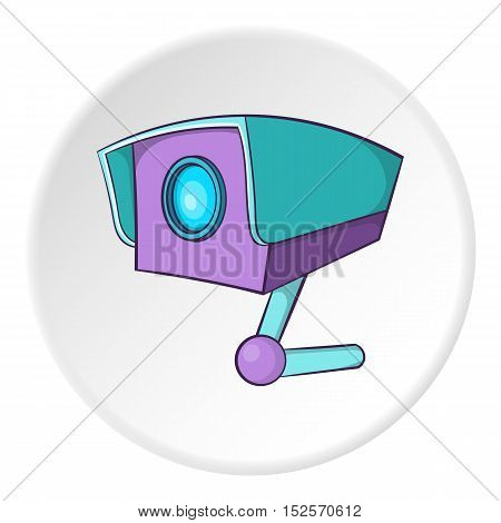 Security camera icon. Cartoon illustration of security cameravector icon for web
