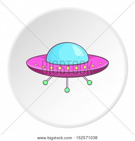 UFO icon. Cartoon illustration of UFO vector icon for web