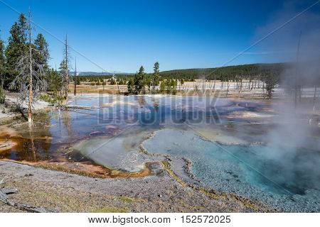 Firehole Spring along Firehole Lake Drive in Yellowstone National Park Wyoming