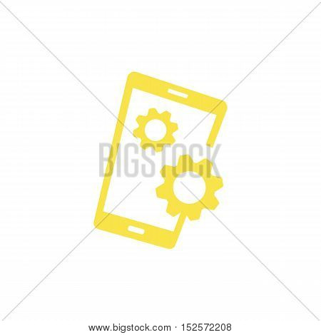 Mobile Setting and Maintenance themed. Smartphone creative design icon