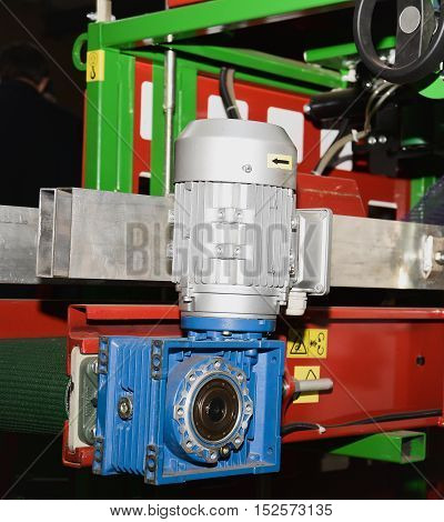 one electric motor on a production machine