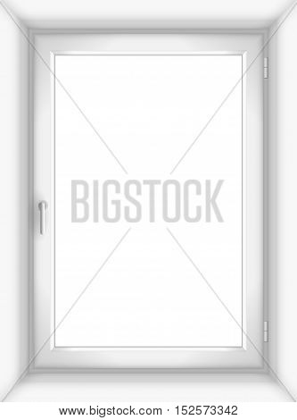 The white plastic or wooden window in a simple vector graphics