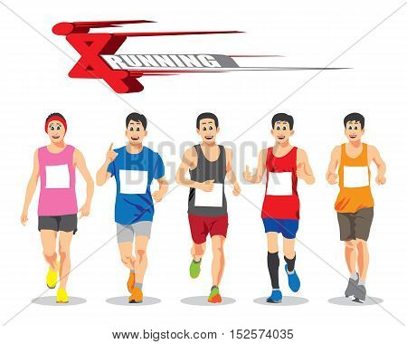 THE RUNNING PEOPLE VECTOR CONCEPT FOR DESIGN.