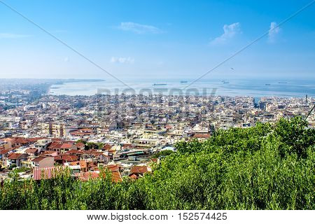 Panoramic view of Thessaloniki the capital of Greek Macedonia