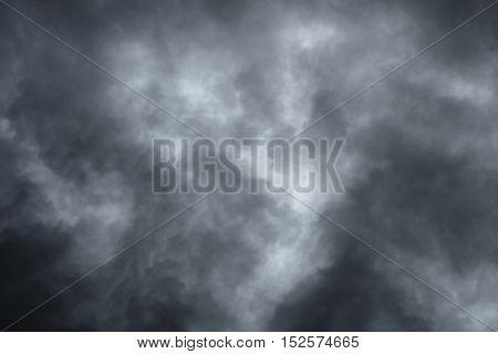 Dark overcast sky