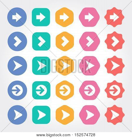 Geometric Arrow Navigation icon. website asset library