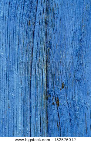 Old Blue Obsolete Wooden Board Background Texture