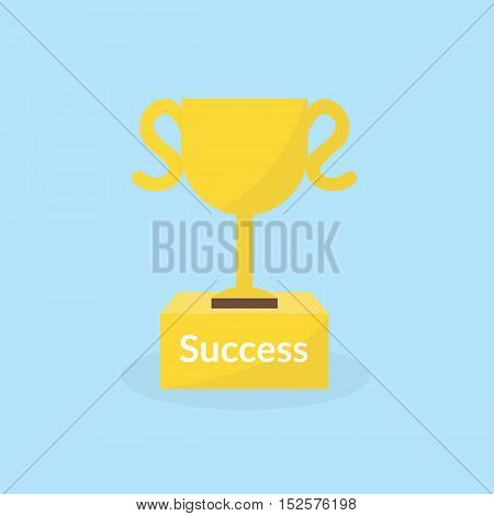 Success Concept By The Trophy On The Podium
