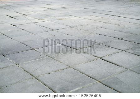 patterned paving tiles cement brick floor background