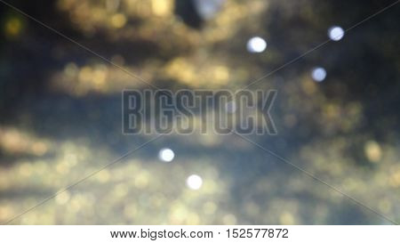 Background photo in pond water bokeh blur soft yellow white and gray color tone photo in pond.