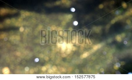 Background in water bokeh blur soft yellow white and gray color tone photo in pond.